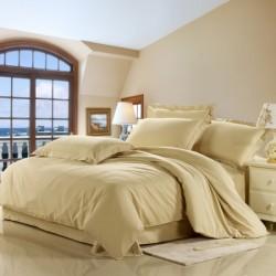 Двойно спално бельо - пясъчно