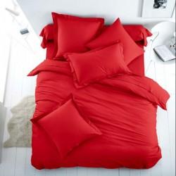 Двойно спално бельо - червено