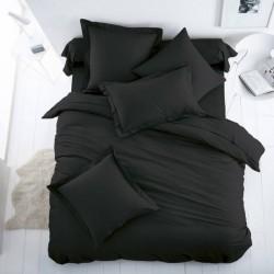Двойно спално бельо - черно