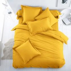 Двойно спално бельо - жълто