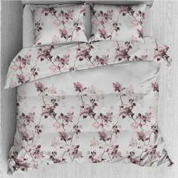 Спално бельо - Цветя екрю