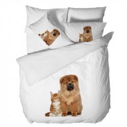 3D Спално бельо - Коте и Куче
