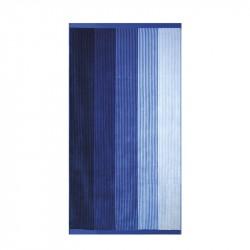 Плажна кърпа - синьо райе