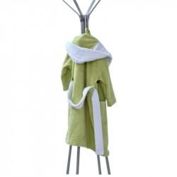 Детски халати - зелен-бял