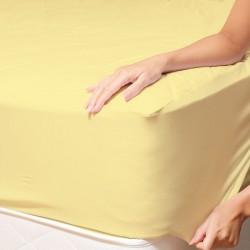 Чаршаф с ластик - светло жълто