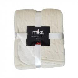 Декоративно одеяло MiKa - крем
