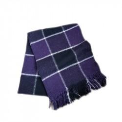 Вълнено карирано одеяло - лила