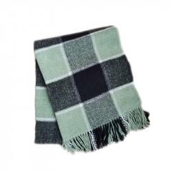 Вълнено карирано одеяло -...