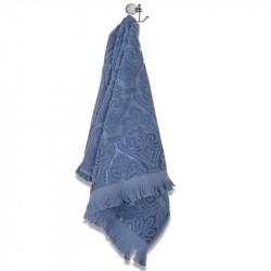 Хавлиени кърпи с ресни - Син
