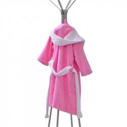 Детски халати - розов-бял