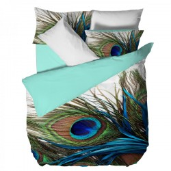Двойно спално бельо - Паун