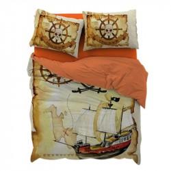 3D спално бельо - Пирати