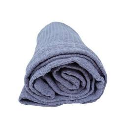 Памучно одеяло Вафел - сиво