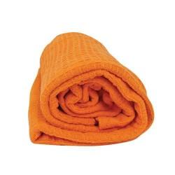 Памучно одеяло Вафел - оранжев