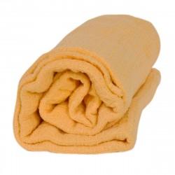 Памучно одеяло Вафел - жълт