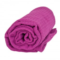 Памучно одеяло Вафел - лилав
