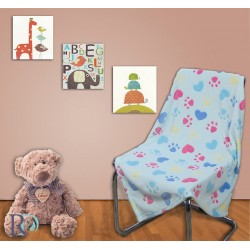 Бебешки одеяла - лапички синьо