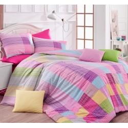 Семейно спално бельо - Каро